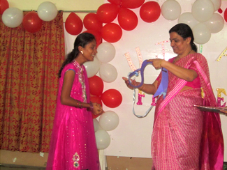 Ms Fresher Felicitation by Principal Dr Sneha Pitre